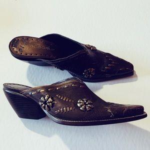 BCB Girls Western Slip On Mules Boots 5.5B 5 1/2 B